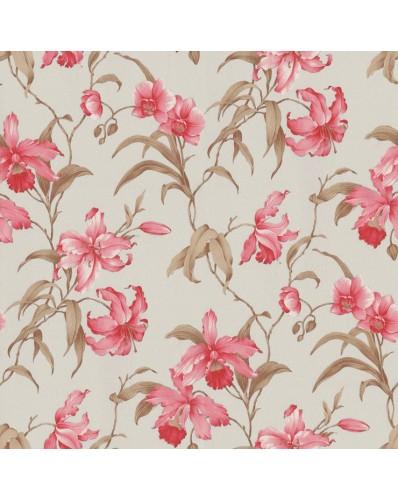 Papel de Parede Flora - Rosa e Marrom  9115