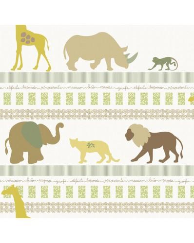 Papel de parede Infantário Selva animais 1718